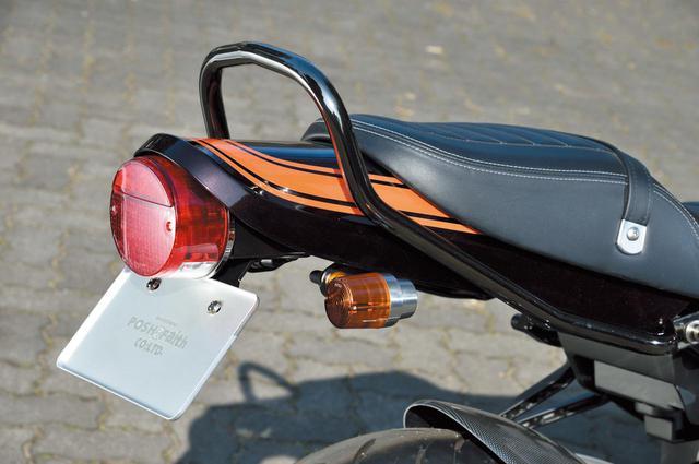 画像: 「Z2タイプテールカウル Z900RS」はキャンディトーンブラウン(純正色仕上げ)が税別5万2000円、黒ゲル仕上げが税別1万8000円。フェンダーレスキットは純正形状、Z2テール対応等あり。