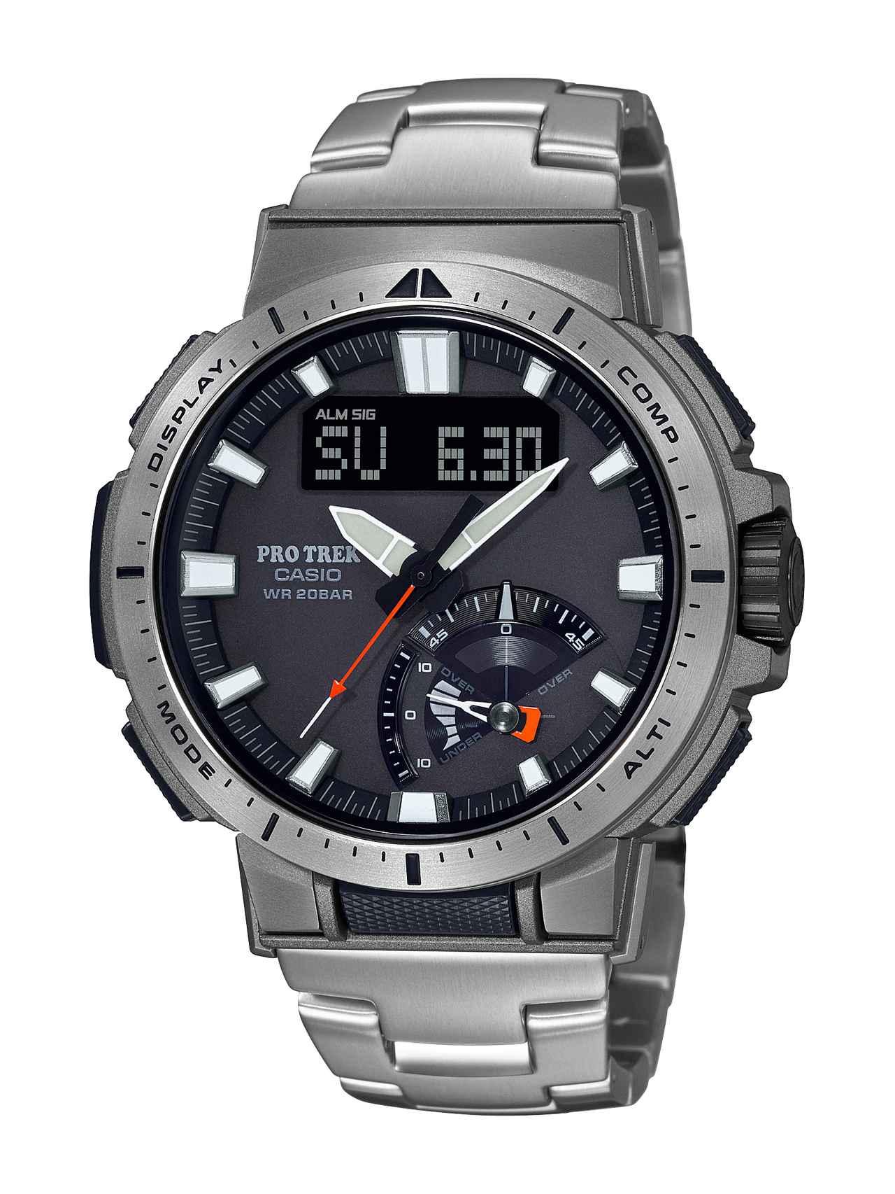 画像3: 20気圧防水&アウトドアで役立つ機能が満載! プロトレックの新型ソーラー電波腕時計「PRW-70」はライダーとも好相性