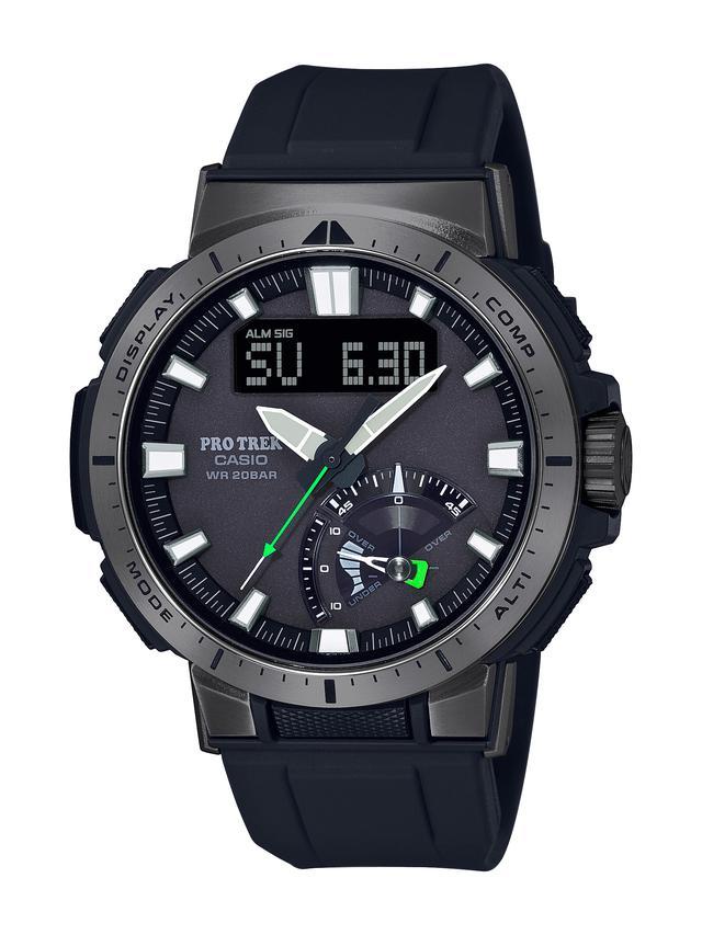 画像1: 20気圧防水&アウトドアで役立つ機能が満載! プロトレックの新型ソーラー電波腕時計「PRW-70」はライダーとも好相性