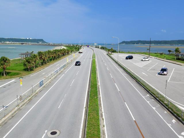 画像: 海中道路。