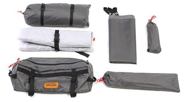 画像: パーツごとに収納できる袋を完備。手持ちのシートバッグの形状などに合わせて、収納方法を変えられるというメリットがあります。