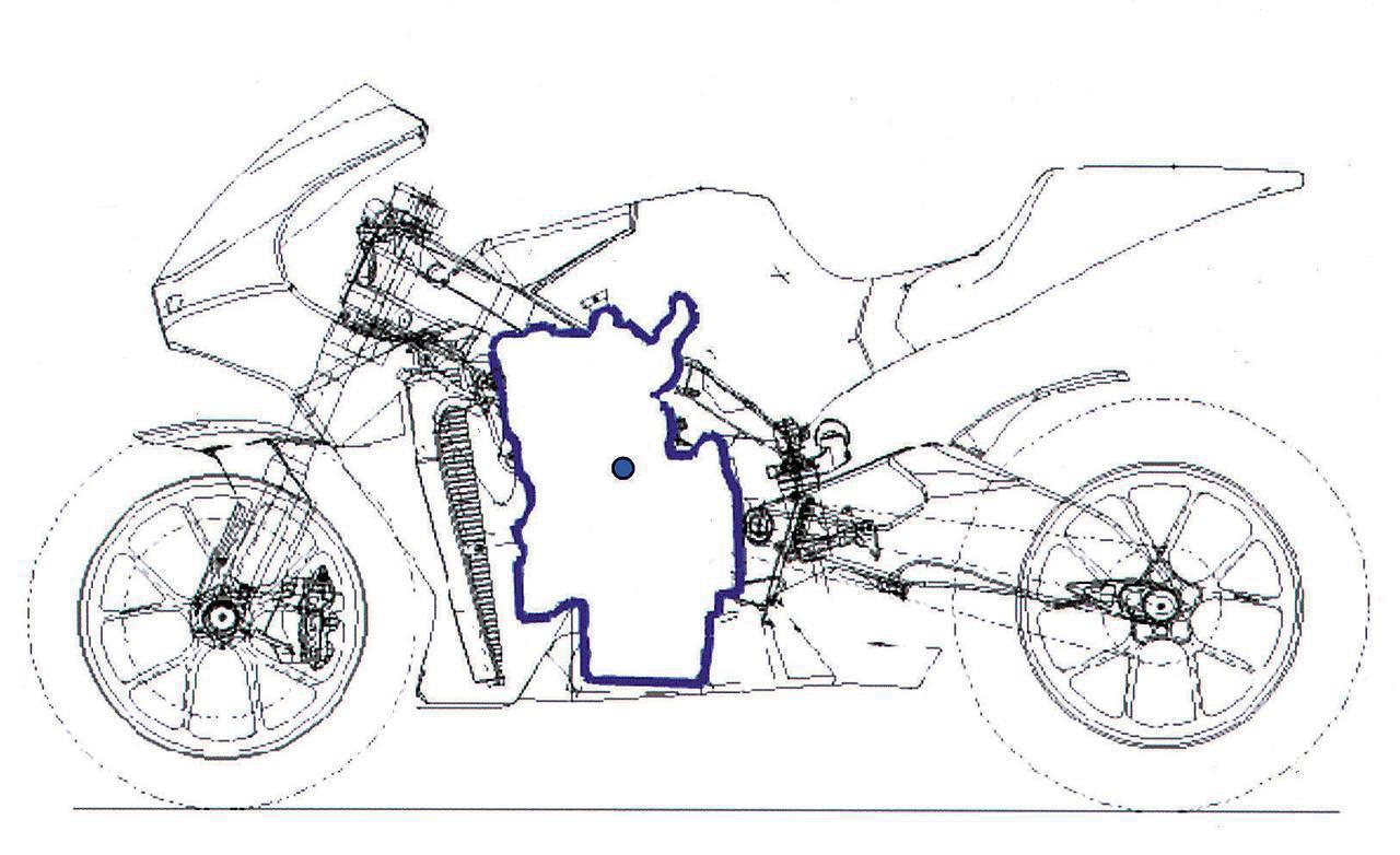 画像: 【2005年モデル】 市販車の流れをくむかに見えた2005年型エンジンと、モトGPだけをにらんで開発されたのが明白な2006年型エンジンの、形状/大きさ/搭載位置には大きな違いがある。全体の小型軽量化による利点の他に、重心位置を低くすることによってブレーキング時の安定性が高まり、マスの集中化によってハンドリングが良好になり、前後長の短縮によって前輪分布荷重の増大とスイングアームの延長が可能になるなど、モトGPフル参戦4年目にして、飛躍的な進化を遂げたのだ。