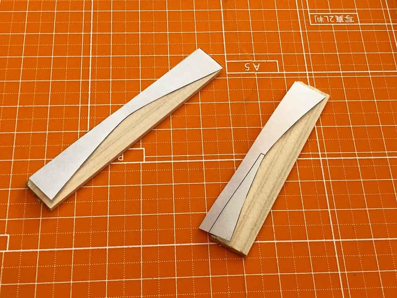 画像: すぱっとカット。2mmならカッターナイフで切れます。刃はまめに交換してね。