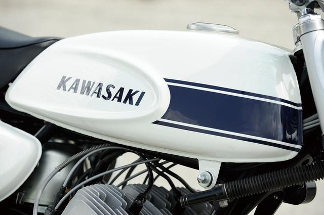 画像: 初代マッハⅢの特徴であるエグリタンク。アメリカ製作のスケッチから選ばれ、モックアップを日本へ送って完成。