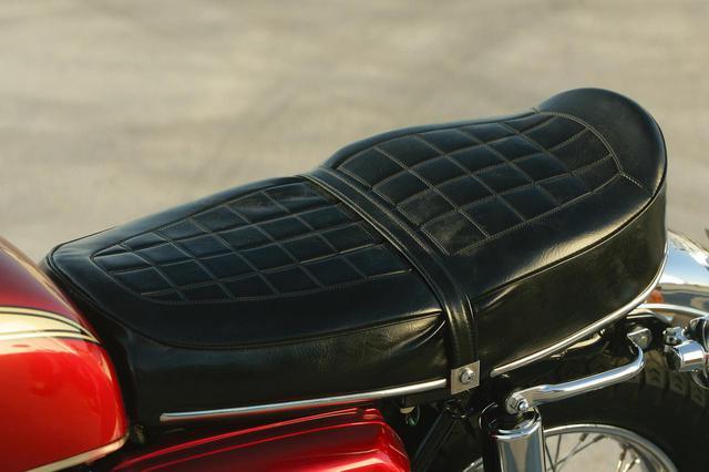 画像: K0はシート後端がピコンと立ち上がるのが特徴。K1以降、シートテールはフラットな形状になった。