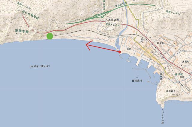 画像: 室蘭本線 大岸~豊浦