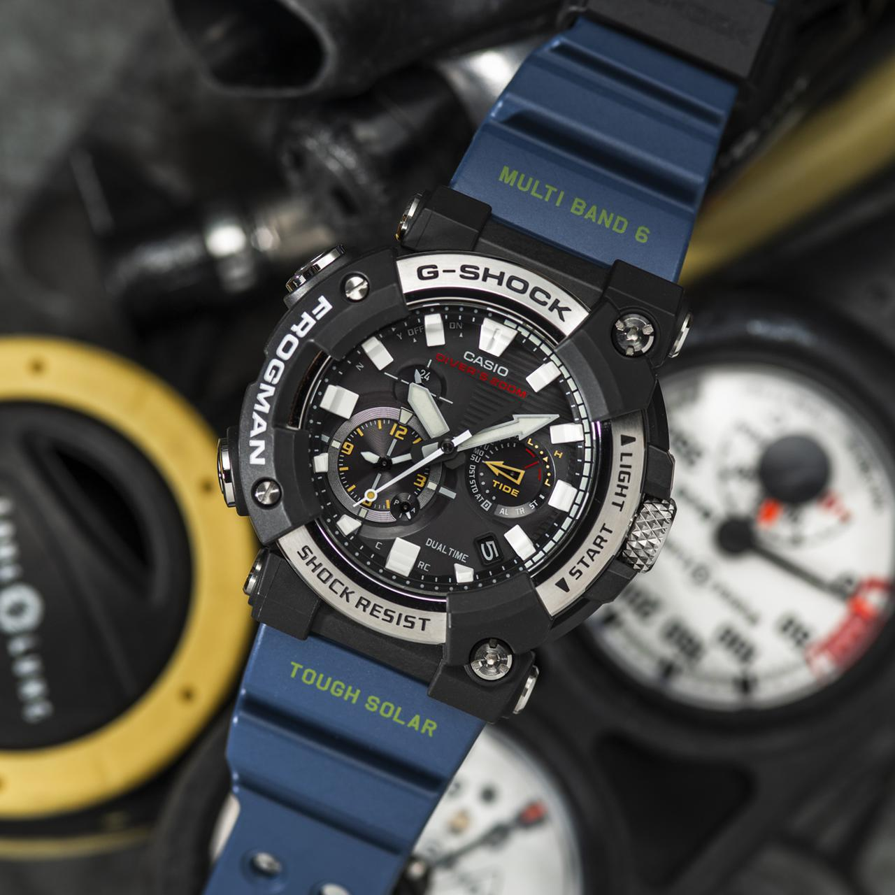 画像5: G-SHOCKのダイバーズウオッチ「フロッグマン」からバイク乗りにも人気の〈アナログ〉モデルが初めて登場! メンテ不要のタフネス電波ソーラー腕時計