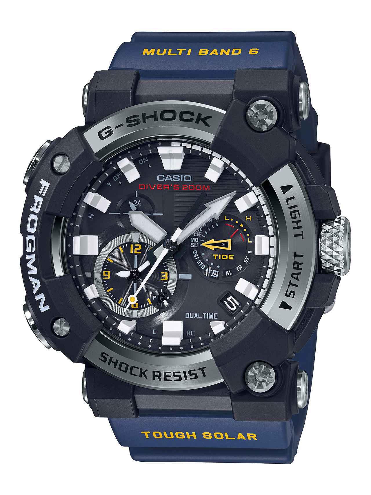 画像2: G-SHOCKのダイバーズウオッチ「フロッグマン」からバイク乗りにも人気の〈アナログ〉モデルが初めて登場! メンテ不要のタフネス電波ソーラー腕時計