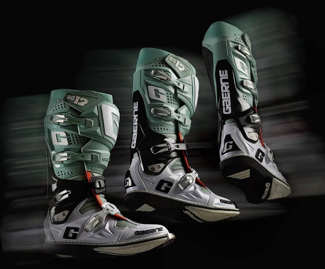 画像: ガエルネ最高峰のモトクロスブーツ「SG-12」にインパクトのあるニューカラーが2色登場! - webオートバイ