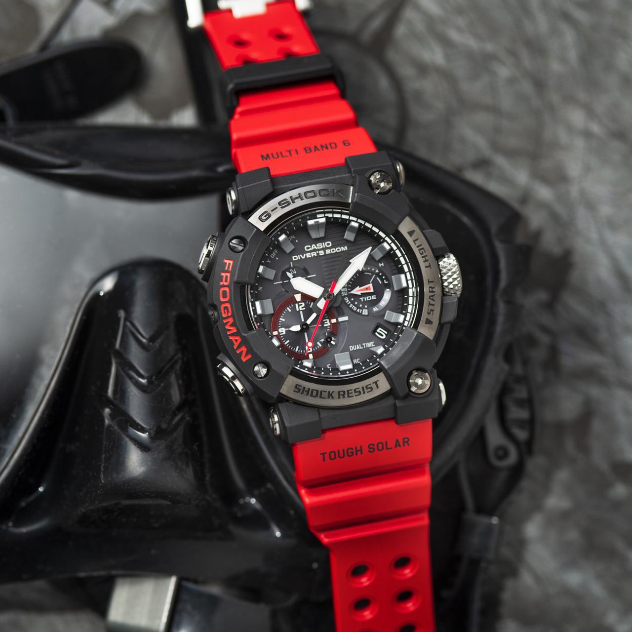 画像6: G-SHOCKのダイバーズウオッチ「フロッグマン」からバイク乗りにも人気の〈アナログ〉モデルが初めて登場! メンテ不要のタフネス電波ソーラー腕時計