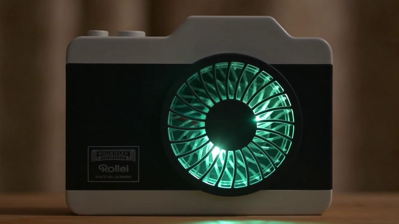 画像: RolleiハンズフリーカメラファンのLEDパターン www.youtube.com