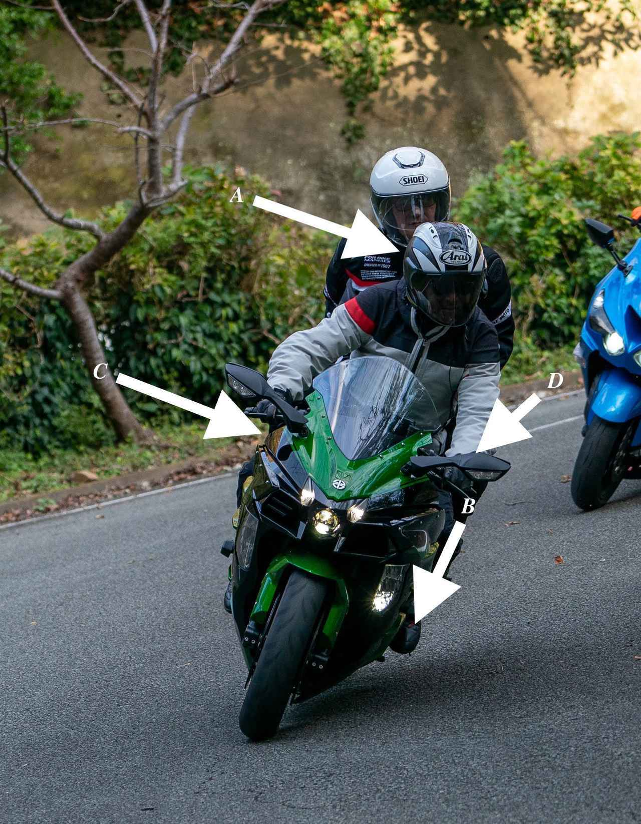 画像: カワサキ Ninja H2 SX SEでタンデムした場合