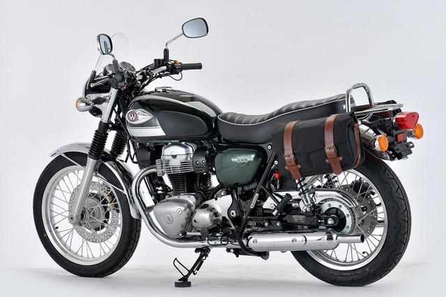 画像: さすらいの旅人感あり! カワサキ「W800」のツーリング・カスタムをプロトが提案 - webオートバイ