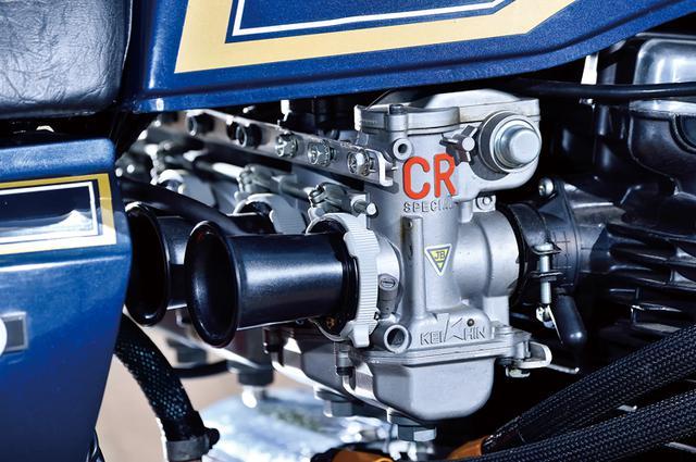 画像: キャブレターはCRスペシャル。排気系にはZ系に強いブルーサンダース製を選択するあたりからも、コアな感じがする1台と思える。