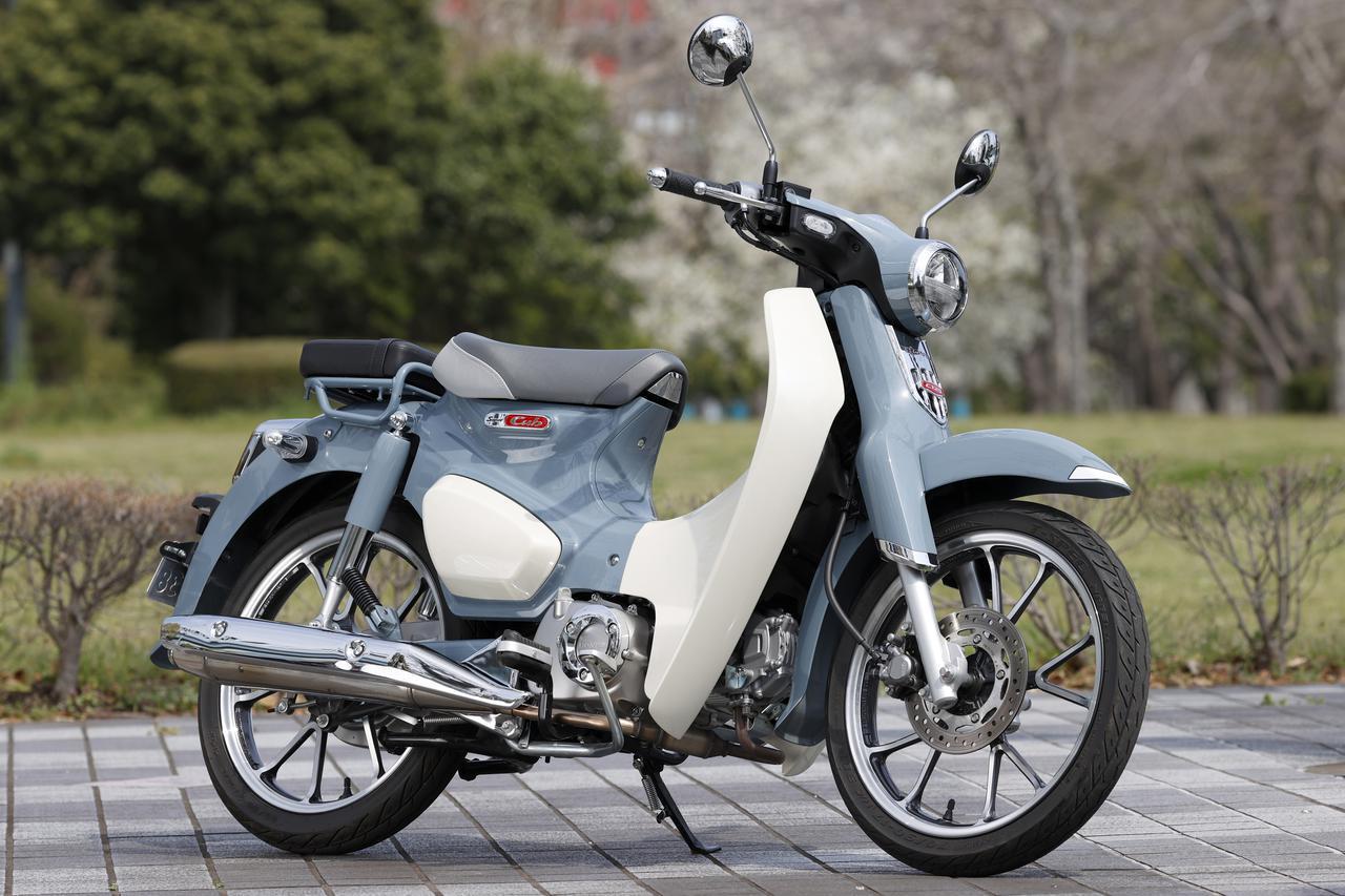 画像: Honda SUPER CUB C125 総排気量:124cc 最高出力:9.7PS/7500rpm/最大トルク:1.0kg-m/5000rpm メーカー希望小売価格:40万7000円(税込) ※撮影車両は、純正オプションパーツのタンデムシートが装着されています。
