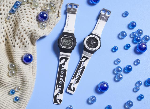 画像1: G-SHOCKとBABY-Gから人気の「イルクジ」最新モデルが登場! オルカをモチーフとした白×黒デザインがおしゃれなソーラー電波腕時計
