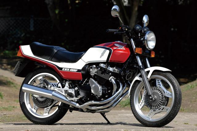 画像: Honda CBX400F 総排気量:399cc 発売当時の価格:48万5000円 (ツートーン)