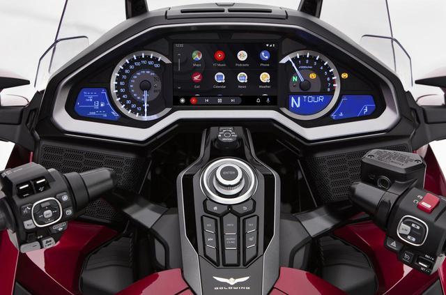 画像: ゴールドウイングシリーズの「Android Auto」のイメージ