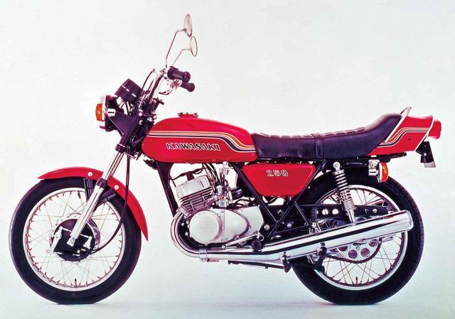 """画像: """"マッハシリーズ""""の最小排気量モデル「250SS MACH Ⅰ」1972〜1975年 - webオートバイ"""