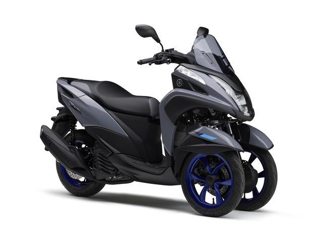画像1: 高速道路も走れるトリシティ! ヤマハ「TRICITY155 ABS」の2020年新色はブルーホイールを採用、発売日は5月15日!