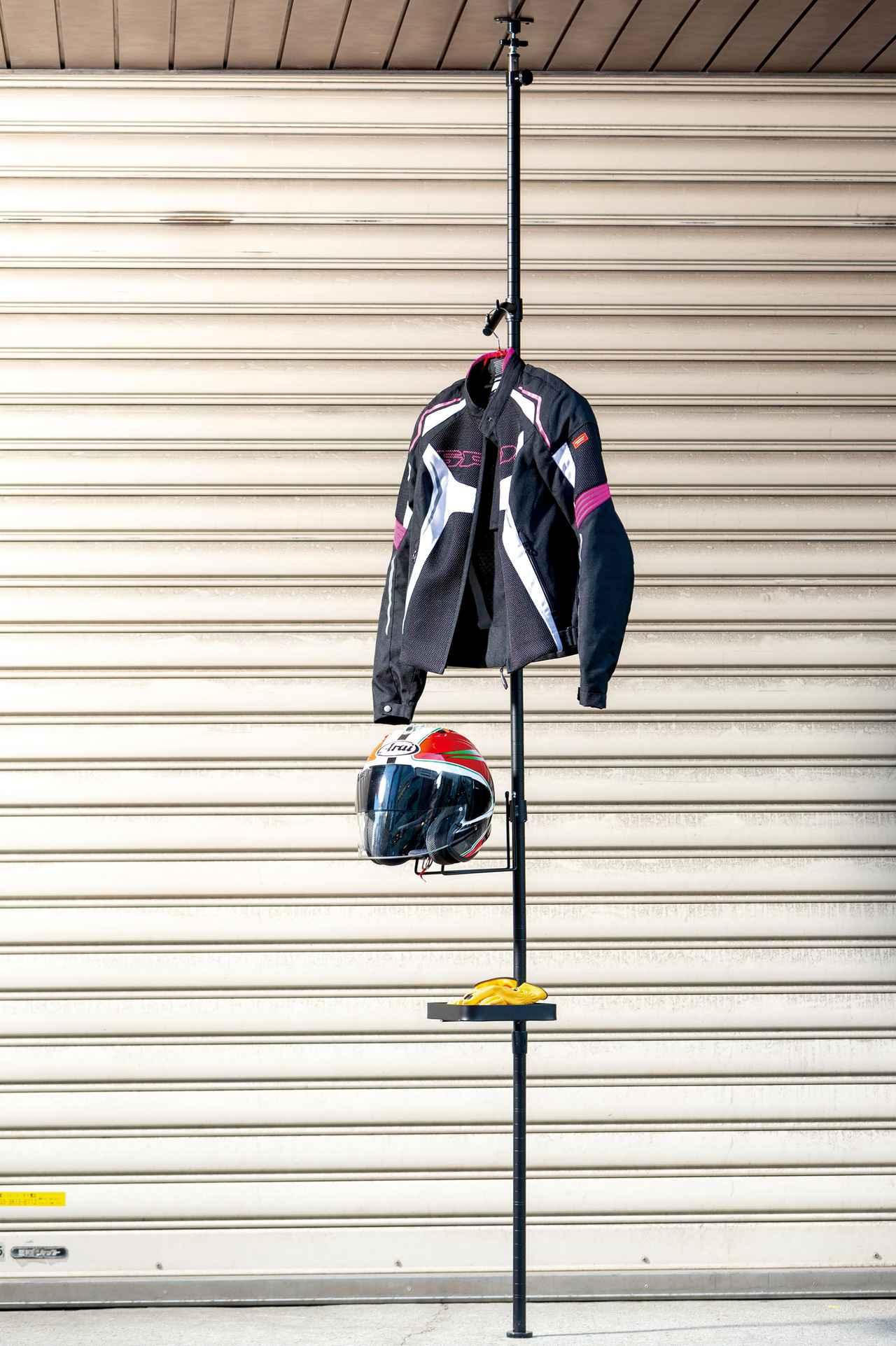 Images : 2番目の画像 - ドッペルギャンガー「ガレージ ワンポールラック」 - webオートバイ