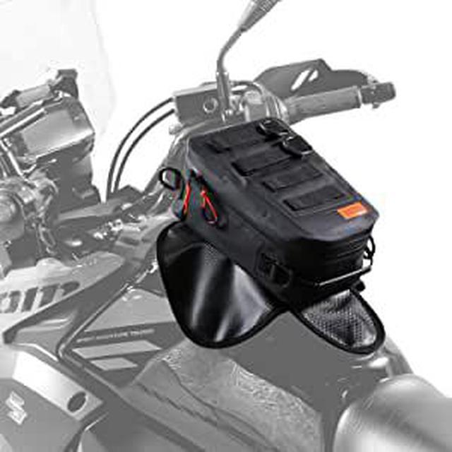 画像: 防水設計で着脱も簡単なタンクバッグ! マグネットタイプの「ターポリンタンクバッグ タクティクス」 - webオートバイ
