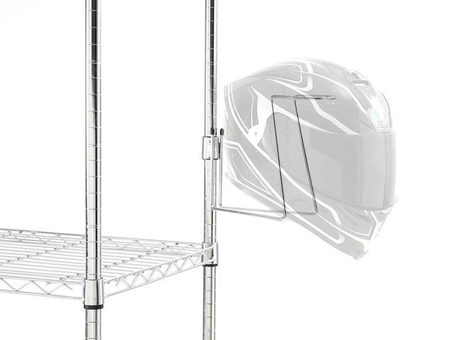 画像2: お手持ちのスチールラックに「ヘルメット置き場」をプラス! ドッペルギャンガーの新製品〈ヘルメットハンガー〉が便利そう