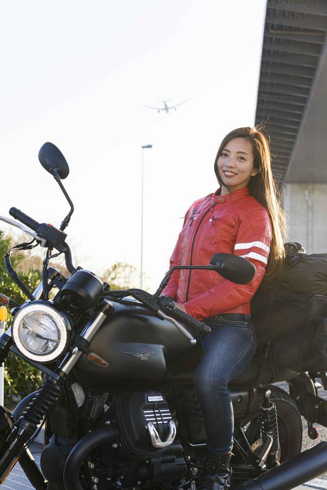 画像4: Ruriko × モト・グッツィ「V7 III ストーン ナイトパック」足つき性もチェック!【オートバイ女子部のフォトアルバム】