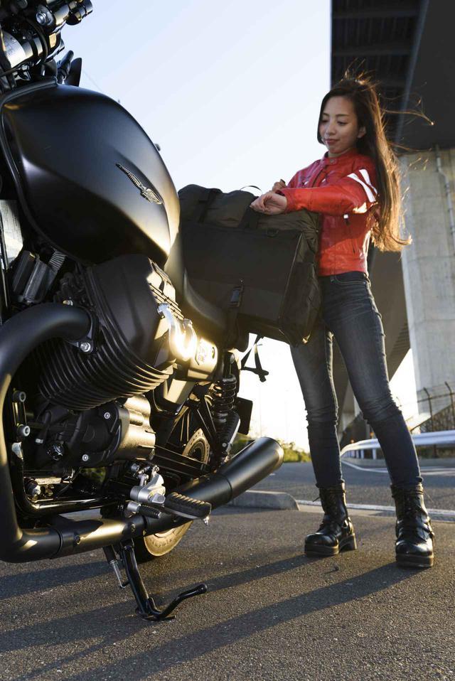 画像5: Ruriko × モト・グッツィ「V7 III ストーン ナイトパック」足つき性もチェック!【オートバイ女子部のフォトアルバム】