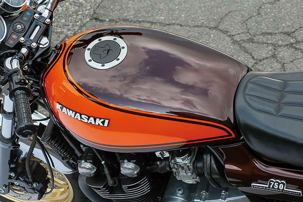 画像: 燃料タンク/サイドカバー/テールカウルのZ2タイプ外装キットには、塗装用=ペイントベースとZ系各車純正色の塗装済みセットがある。