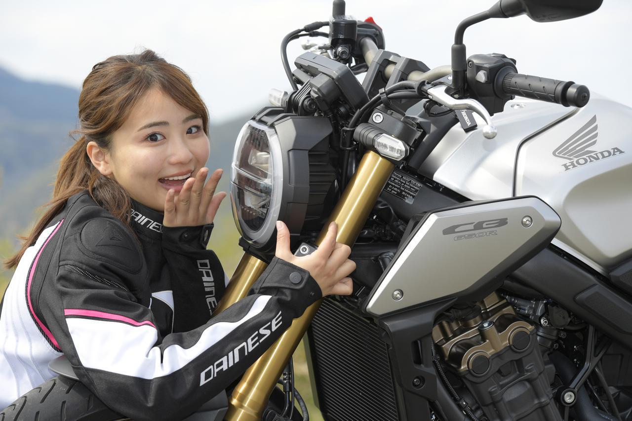 画像4: 平嶋夏海 × ホンダ「CB650R」【オートバイ女子部のフォトアルバム】