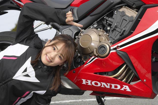 画像4: 平嶋夏海 × ホンダ「CBR650R」【オートバイ女子部のフォトアルバム】