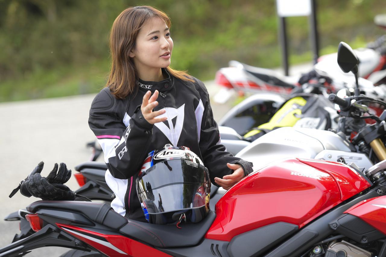 画像6: 平嶋夏海 × ホンダ「CBR650R」【オートバイ女子部のフォトアルバム】