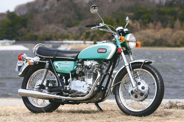 画像: YAMAHA 650XS1 総排気量:653cc 発売年月:1970年2月 当時の価格:33万8000円