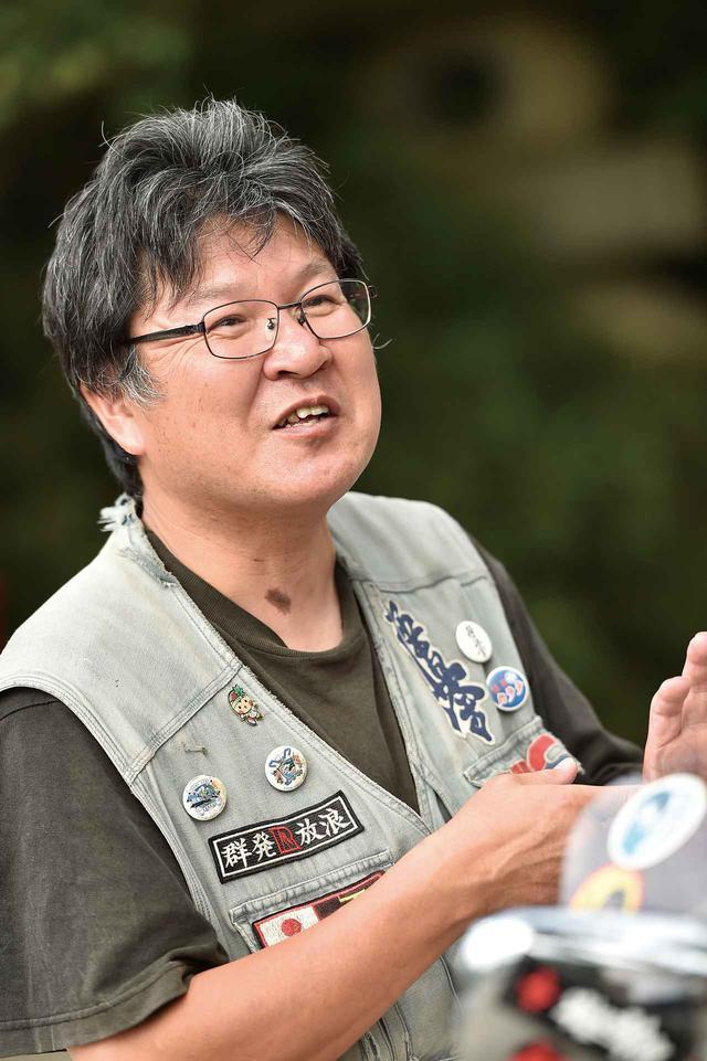 画像: ミスターバイクBG「空ちゃんの旅」作者 吉川正人さん 気さくな吉川さん。最初は自分1人だったのに、今では多くの人が集うようになったことに驚いている。と、想いをたくさん話してくださいました。