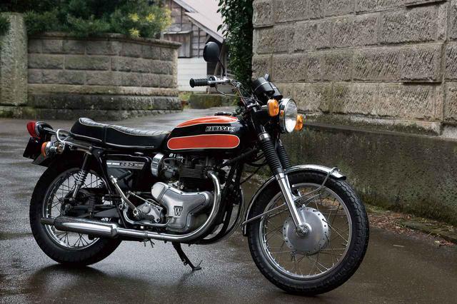 画像: KAWASAKI W1SA 総排気量:624cc 発売年月:1971年2月 当時の価格:34万8000円