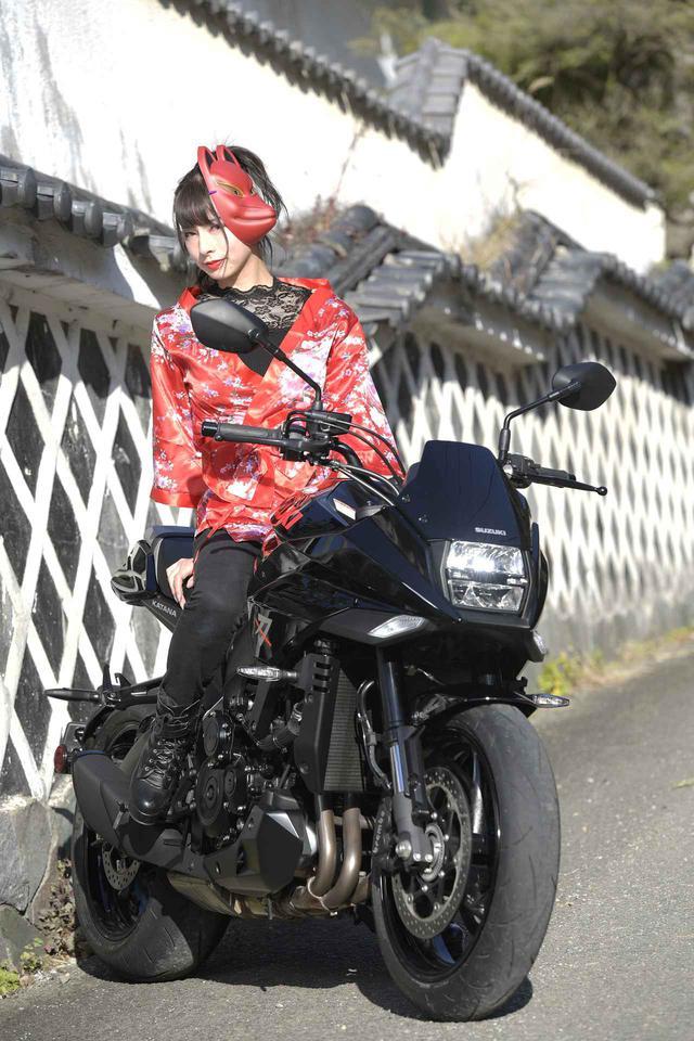 画像: 葉月美優×KATANA【スズキのバイク!と女子ライダーのPHOTO GRAVURE】 - webオートバイ