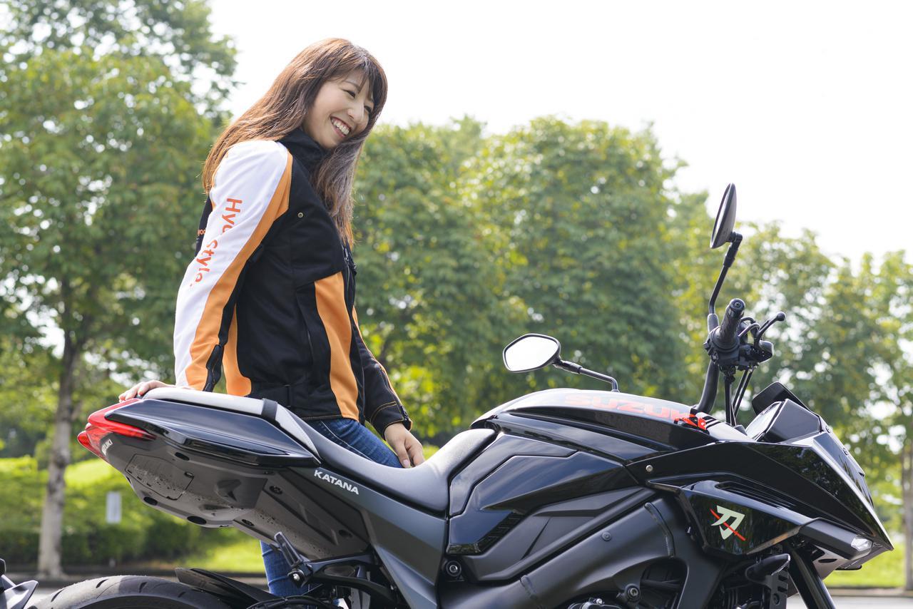 Images : 9番目の画像 - 大関さおり × スズキ「KATANA」 - LAWRENCE - Motorcycle x Cars + α = Your Life.