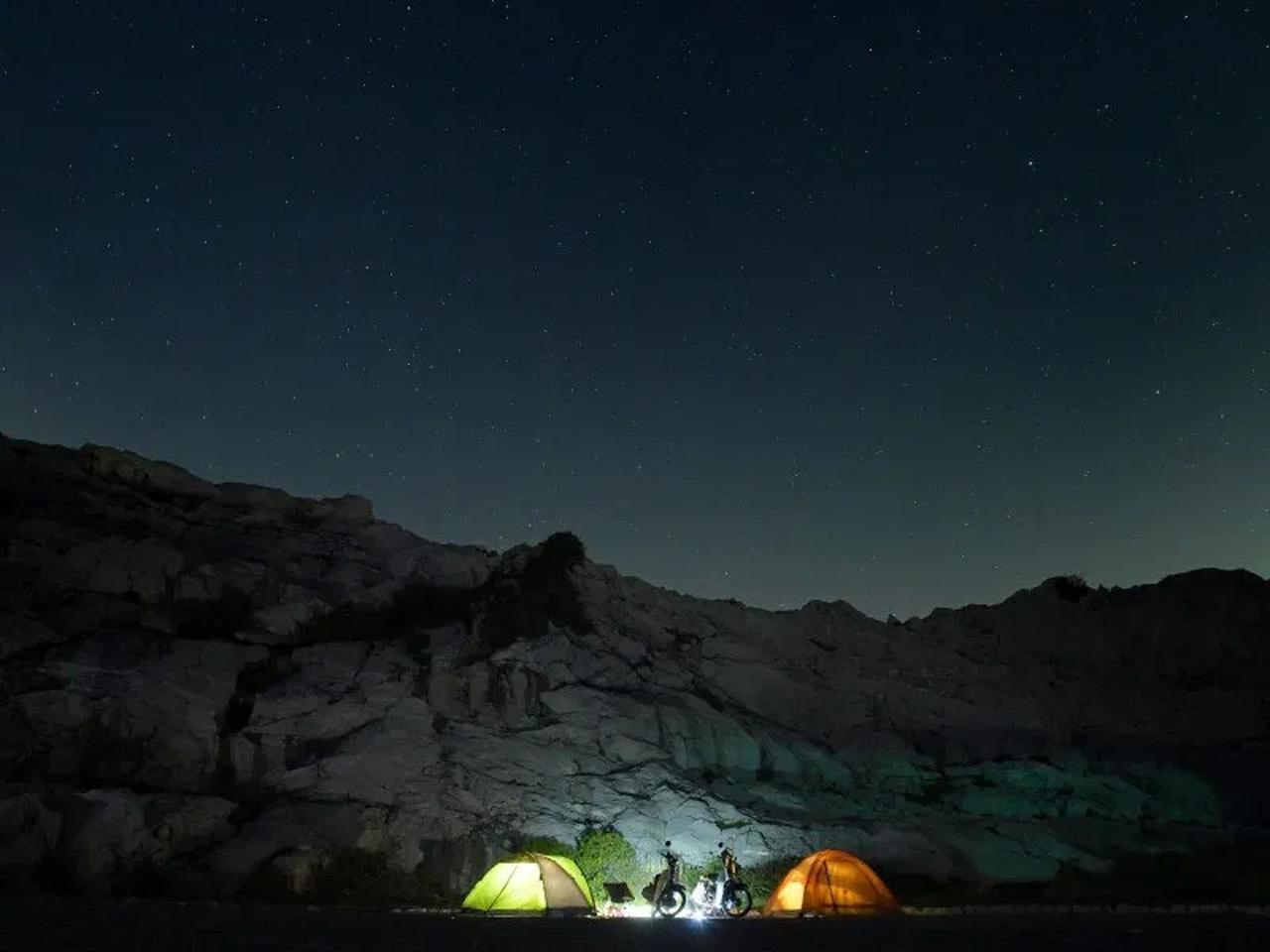 画像: ホンダSUPER CUB90で人生最長ツーリング! 絶景の「白崎海洋公園」でキャンプもしたよ - webオートバイ