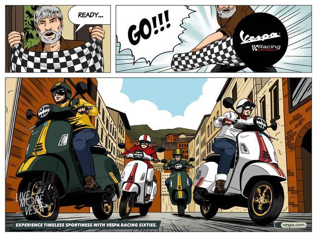 画像: なんと!ベスパ・レーシングシックスティーズのオリジナルコミックが近日公開!