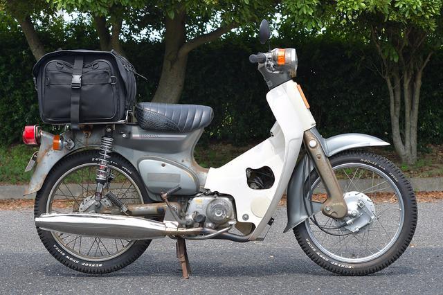 画像: SUPER CUB90+IGAYAキャンプツーリングシートバッグ(50L)
