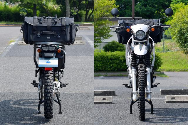 画像: カブと比較すると普通に見える。さらに上にのせたりサイドバッグ追加したくなるね。