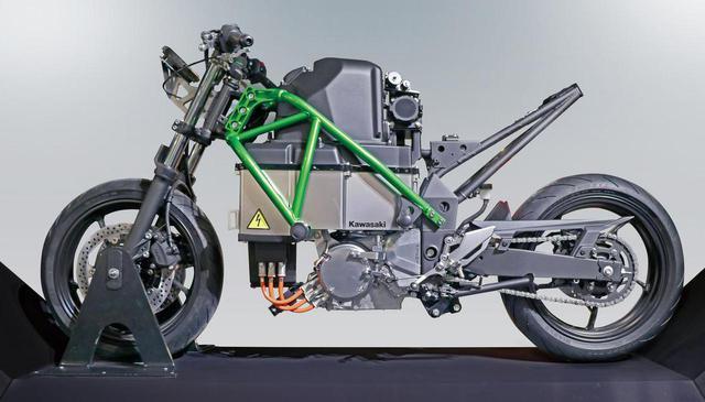 画像: カワサキの電動バイク「EV PROJECT」を考察! 4速マニュアルミッションに回生ブレーキも搭載 - webオートバイ