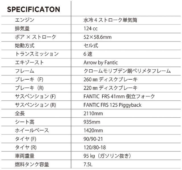 画像2: 車名:FANTIC Enduro 125 価格:81万円(税込)