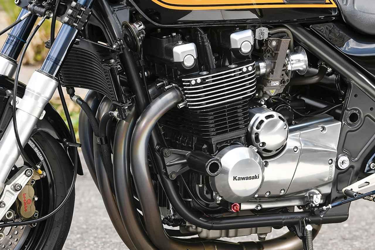 画像: エンジンは撮影時点でノーマルだが、今後のチューニング予定がある。電装系はウオタニSP2を使用。オイルクーラーはラウンドタイプを装着した。