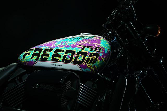 """画像: 【限定モデル】国内10台のみ! ハーレーダビッドソンの「ストリートロッド」に""""GraphersRock""""デザインの限定モデルが誕生! - webオートバイ"""