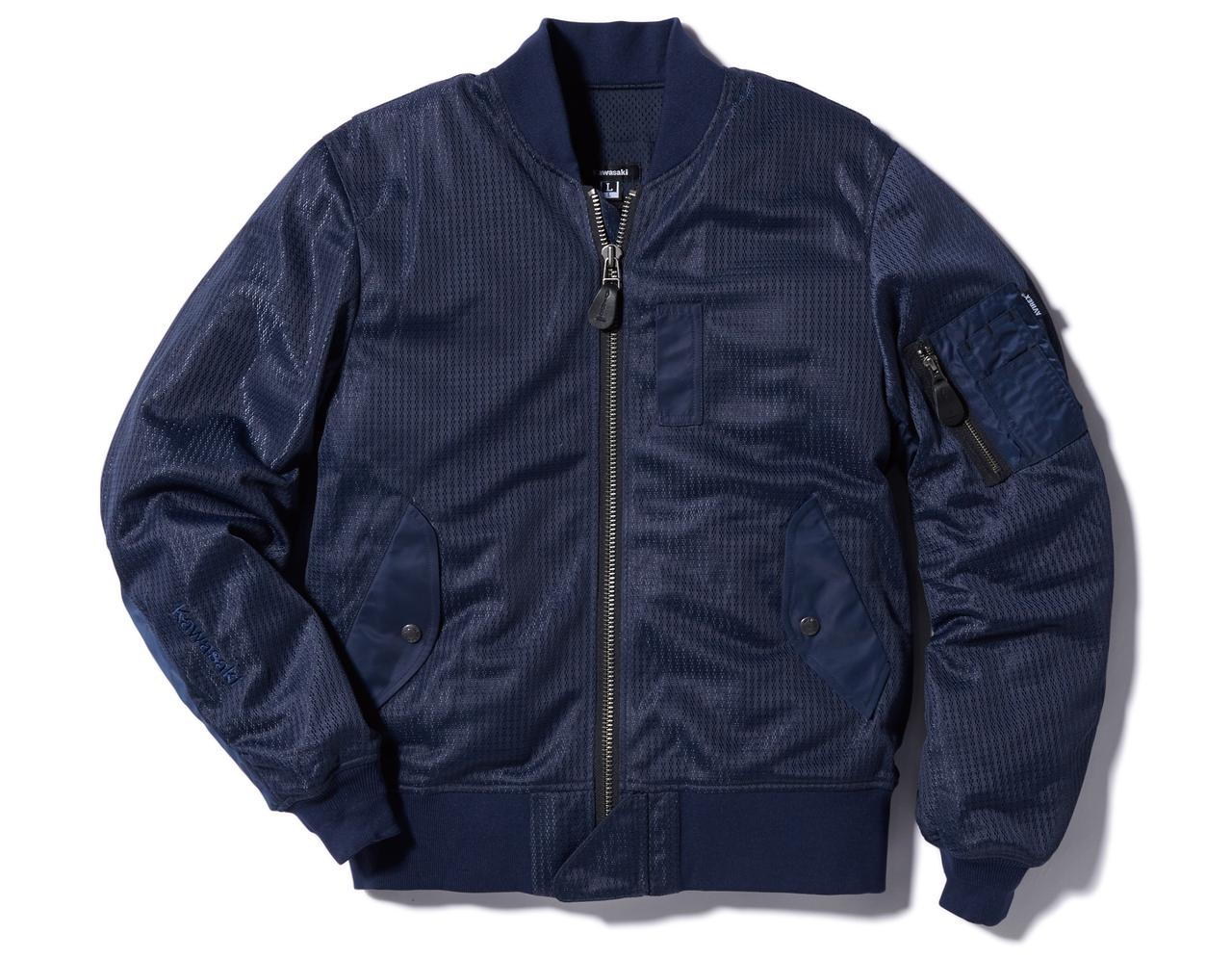 画像3: 【カワサキ×アヴィレックス】大人気「MA-1」タイプのメッシュジャケットがこの夏、改良されて再び発売!