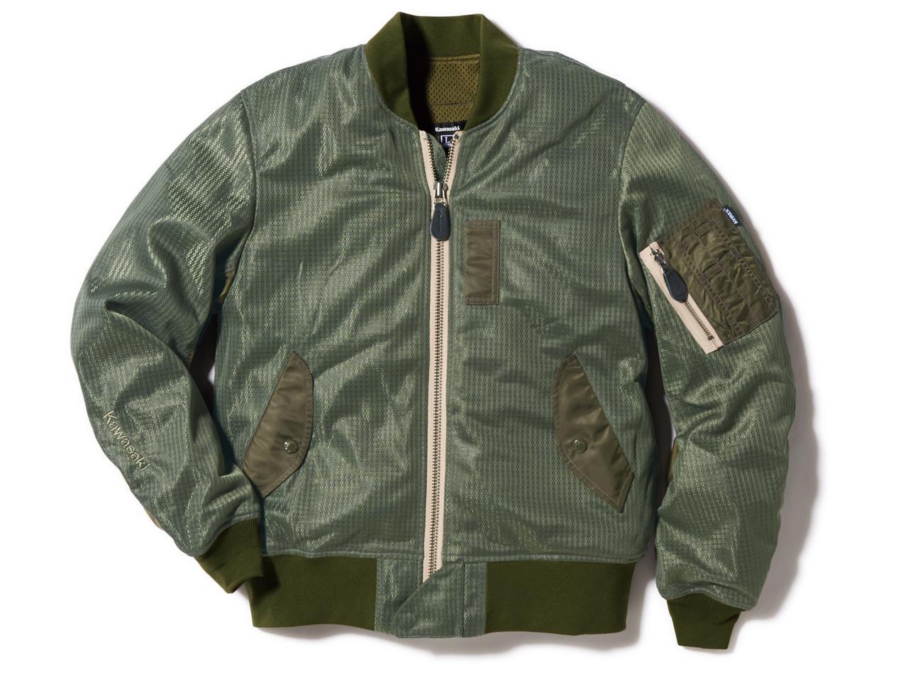 画像2: 【カワサキ×アヴィレックス】大人気「MA-1」タイプのメッシュジャケットがこの夏、改良されて再び発売!
