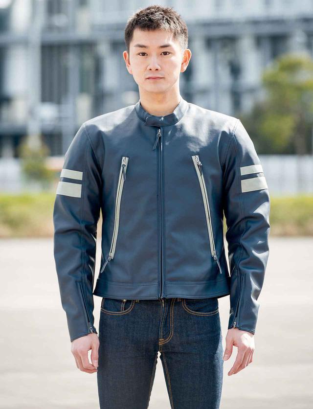 画像: GOLDWIN MOTORCYCLE GWM シンセティックレザージャケット 税込:3万2780円
