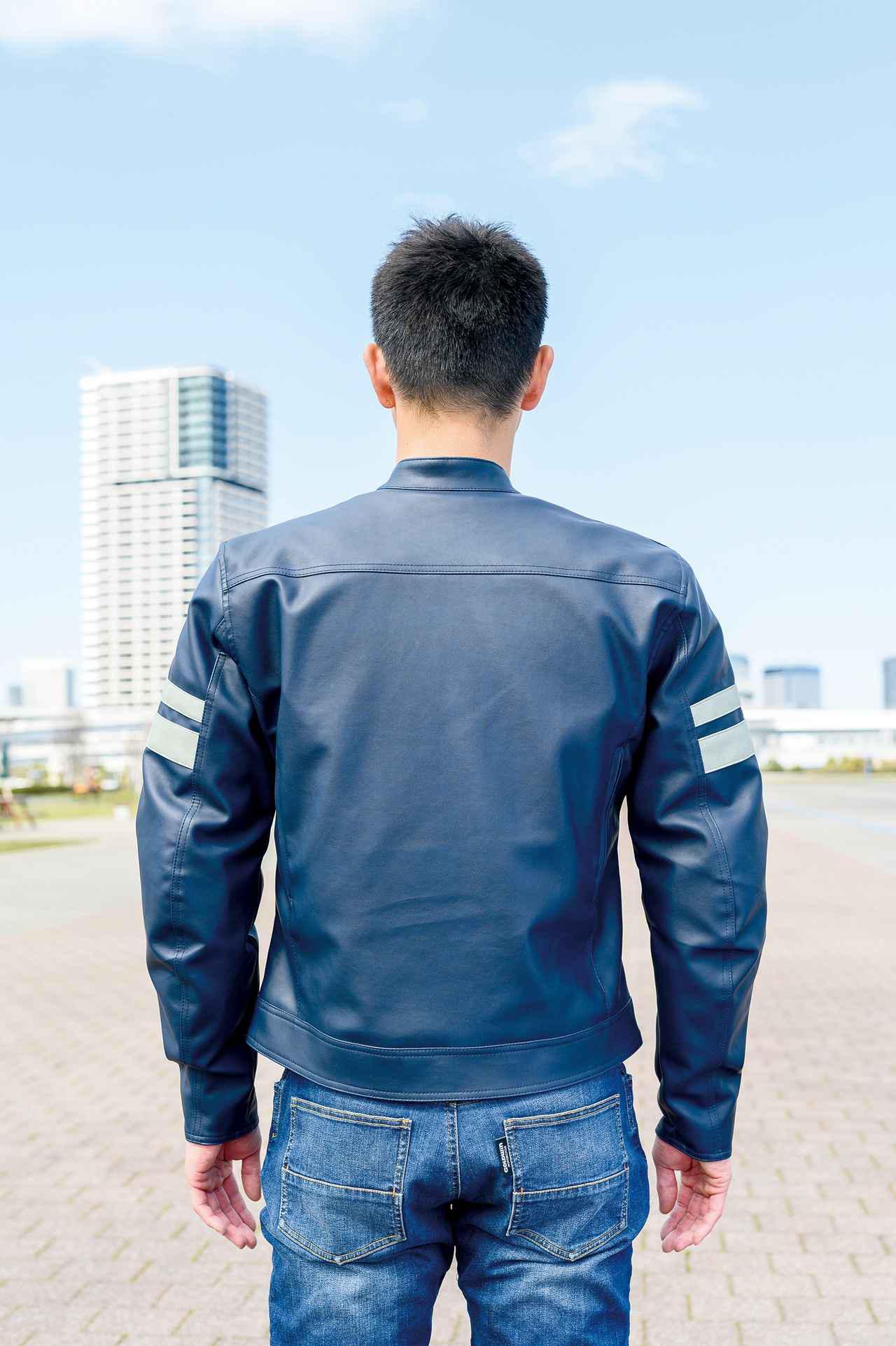 画像: モデルの身長・体重:176cm・67kg 着用ジャケットのサイズ:Lサイズ